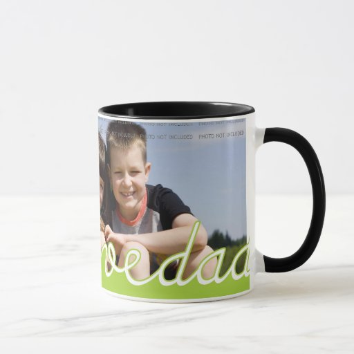 Personalised Fathers Day Photo Mugs   We Love Dad