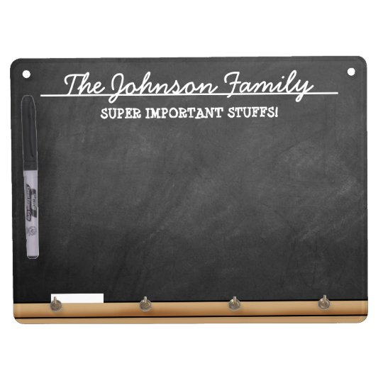 Personalised Faux-Chalkboard Dry Erase Board With Key Ring