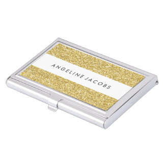 Personalised Faux Glitter Business Card Case