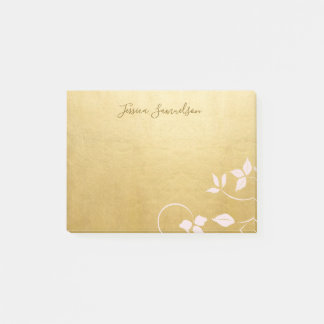Personalised Faux Gold Foil & Pink | Add NAME Post-it Notes