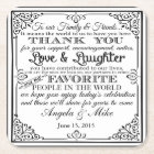 personalised Favor wedding coaster Thank you