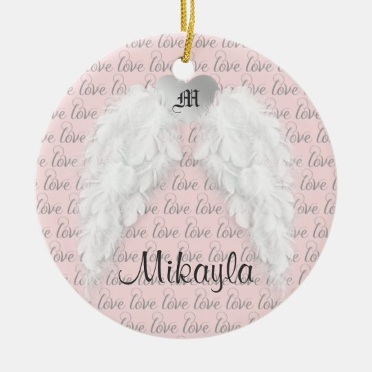 Personalised Feather Angel Wings Christmas Ornament