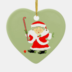personalised field hockey christmas ornament