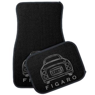 Personalised Figaro Car Mats, Full Set Car Mat