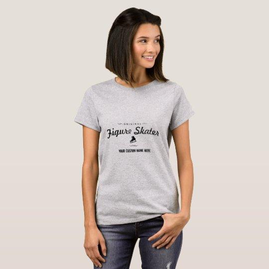 Personalised Figure Skating T-Shirt VINTAGE