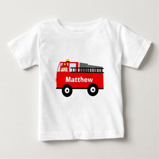 Personalised Fire Engine Toddler Shirt