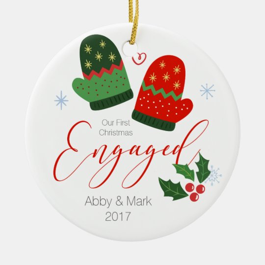 Personalised First Christmas Engaged Ornament
