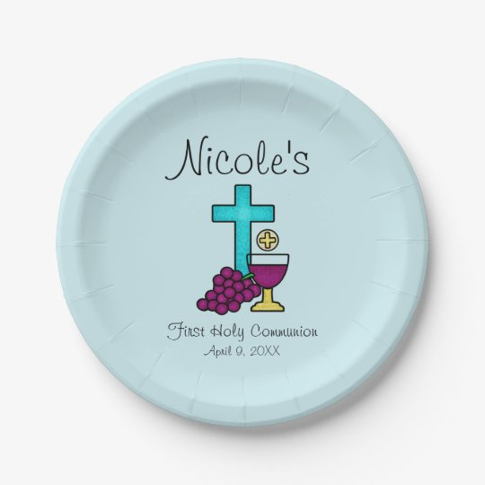 Personalised First Holy Communion Paper Plate