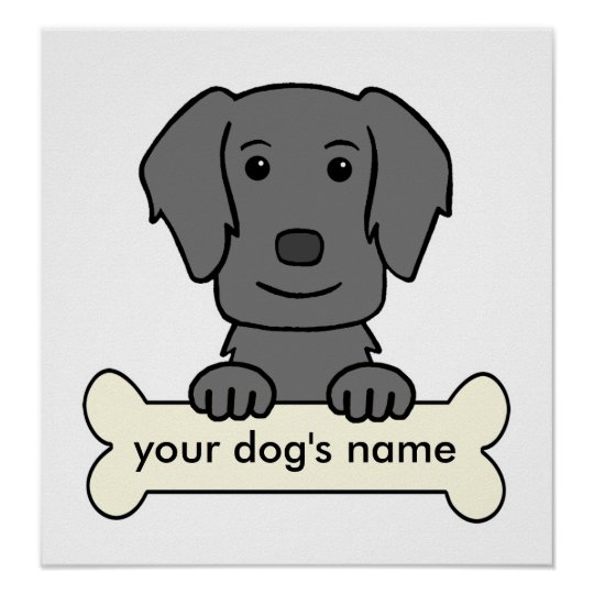 Personalised Flat-Coated Retriever Poster