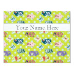 Personalised Flat Note Cards - Guinea Pigs 11cm X 14cm Invitation Card