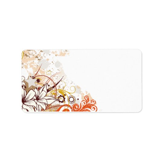 Personalised Floral Address Label