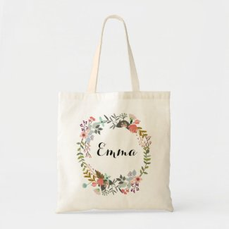 Personalised Floral Tote Bag