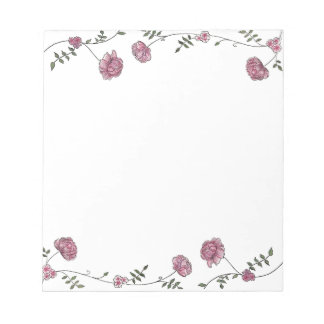Personalised Floral wedding stationery Notepad