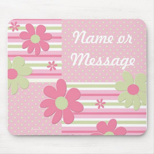 Personalised Flower Girl Mouse Pad