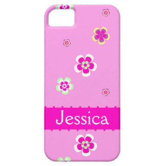 Personalised flowers pattern with name iPhone 5 case