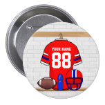 Personalised Football Grid Iron Jersey Pins