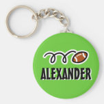 Personalised football keychain for kids with name