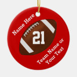 Personalised Football Ornaments Name, Team, Number