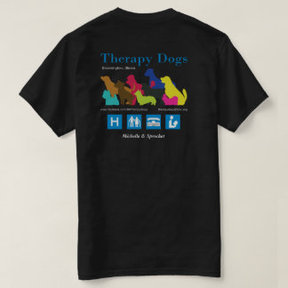 [Personalised  - for dark colours] Therapy Dogs BI T-Shirt