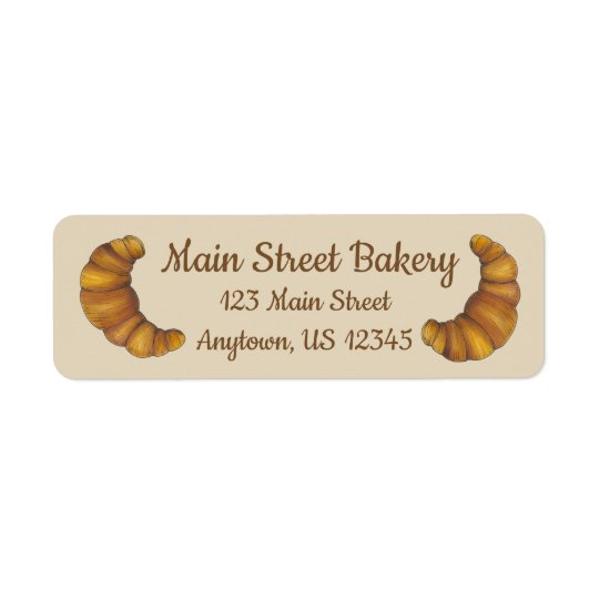 Personalised French Pastry Croissant Bakery Chef
