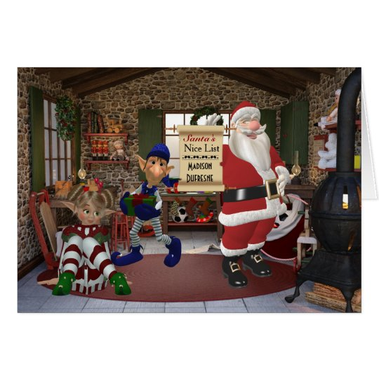 Personalised From Santa's Workshop Card