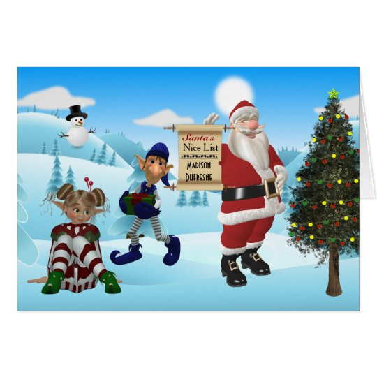 Personalised From The North Pole Santa Christmas Card