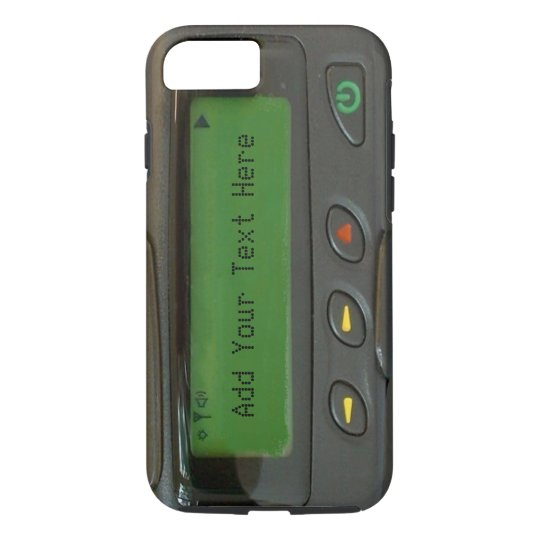 Personalised Funny 90s Old School Pager iPhone 7