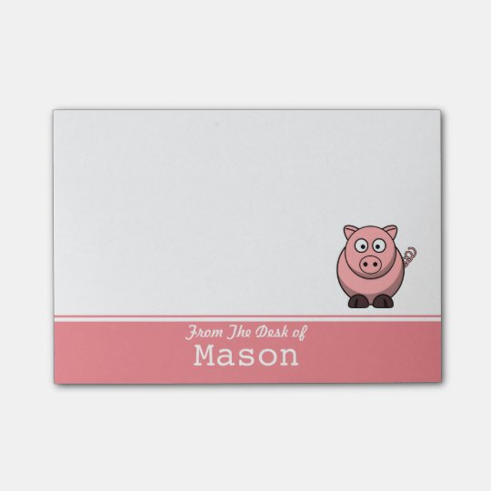 Personalised Funny Fat Pink Pig Post-it® Notes