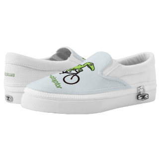 Personalised funny velociraptor slip on shoes