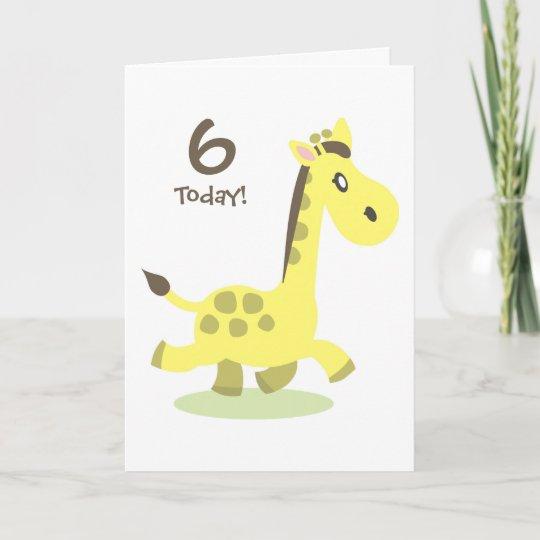 Personalised Giraffe Birthday Card Zazzle