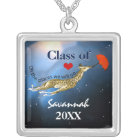 Personalised Giraffe Oh the Places We Will Go Silver Plated Necklace