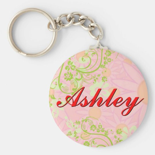 Personalised Girls Name Keychain