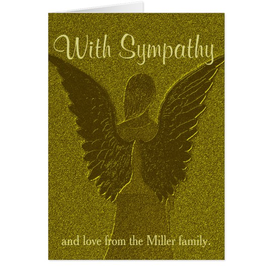 Personalised Gold Angel Sympathy Card