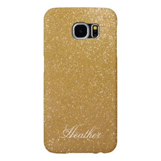 Personalised gold glitter Samsung S6 phone case