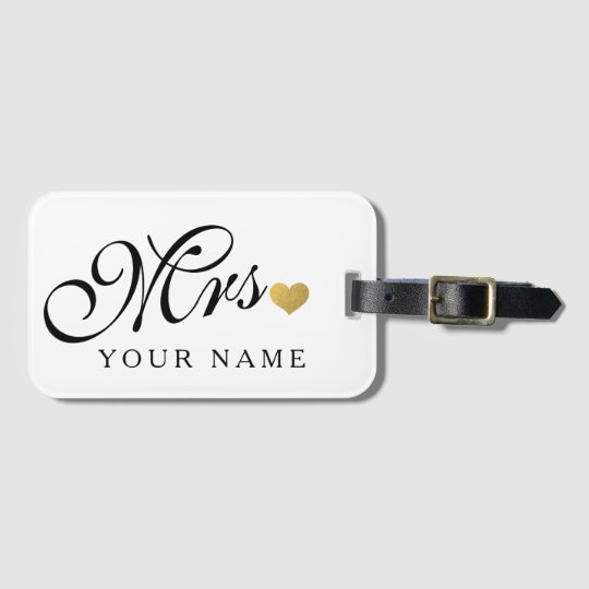 Personalised Gold Mrs. Wife Bride Newly Weds Bag
