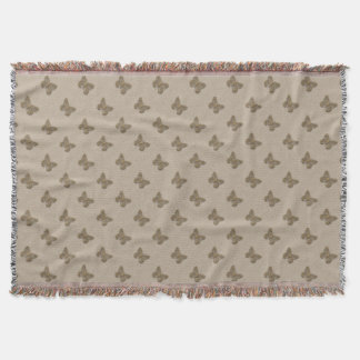 Personalised Golden Butterfly Linen Throw Blanket