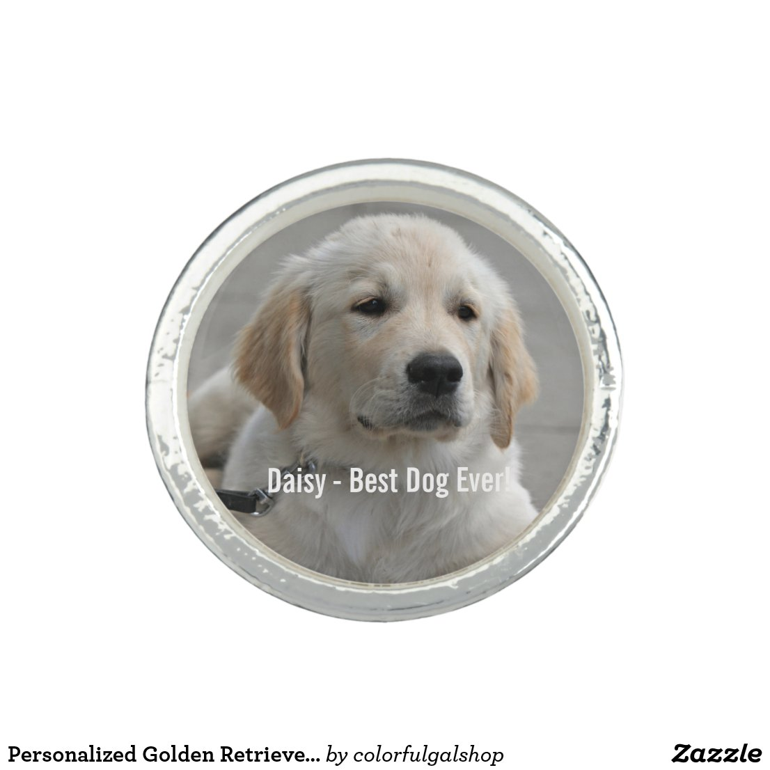 Personalised Golden Retriever Dog Photo and Name