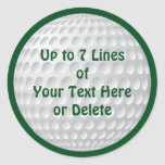 Personalised Golf Party Supplies GOLF STICKERS