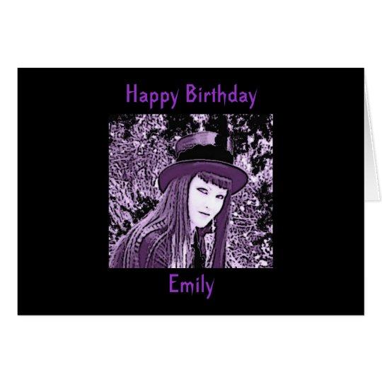 Personalised Gothic Birthday Card