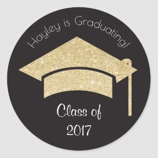 Personalised Graduation Stickers with Gold