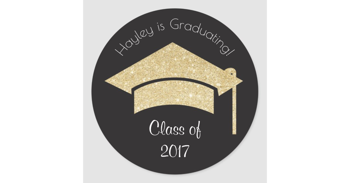 Personalised graduation stickers with gold zazzle co uk