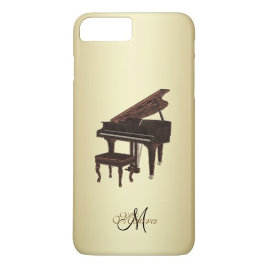 Personalised Grand Piano Music iPhone Case