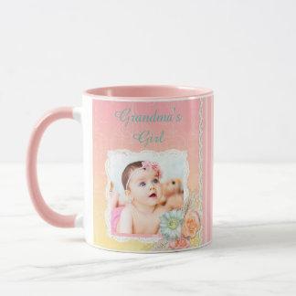 "Personalised ""Grandma's Girl"" Pink Coffee Mug"