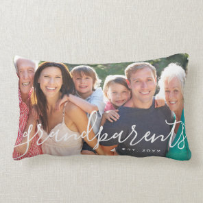 Personalised Grandparents Custom Photo Lumbar Cushion