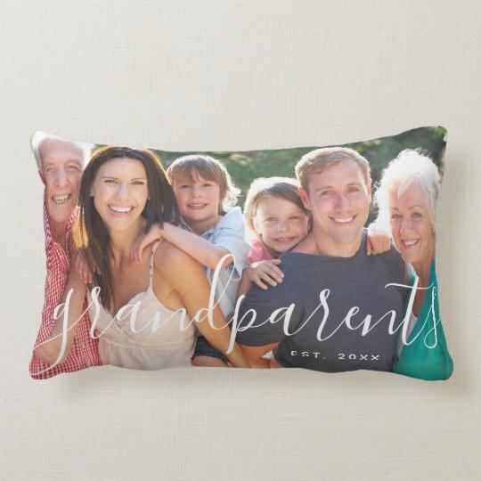 Personalised grandparents photo cushion