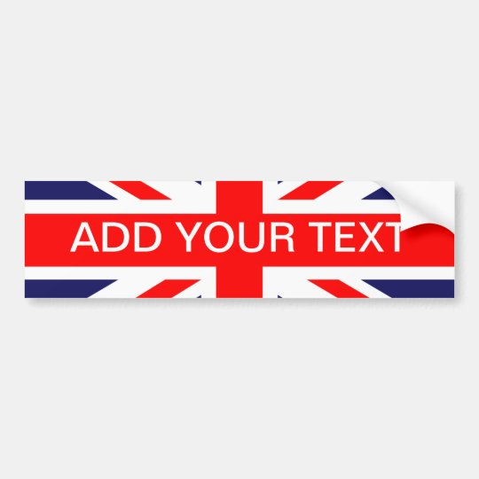 Personalised Great Britain Flag Bumper Sticker