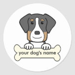 Personalised Greater Swiss Mountain Dog Round Sticker