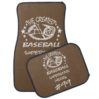Personalised Greatest Baseball w Ball Bat Glove Floor Mat
