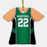 Personalised Green/Black Basketball Jersey 22 V1
