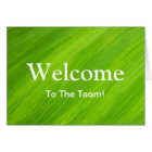 Personalised Green leaf Natural welcome Card